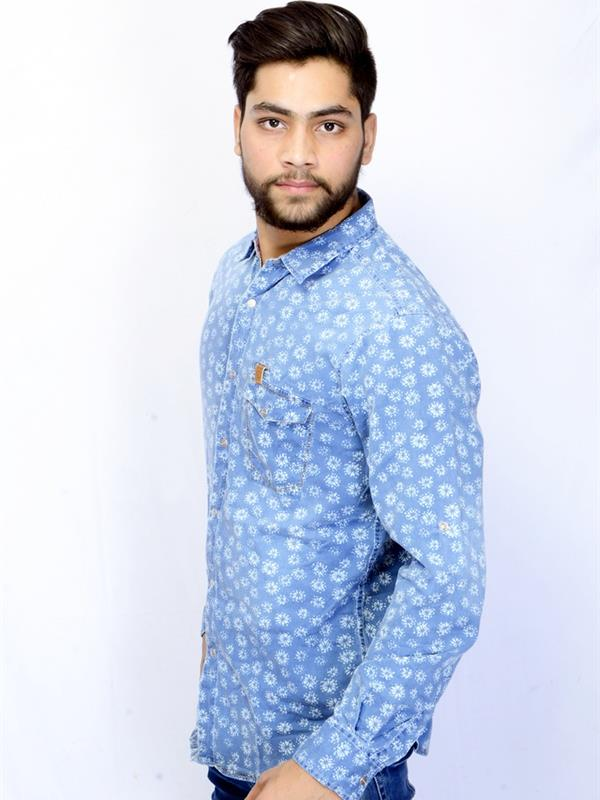Spykar casual printed shirt