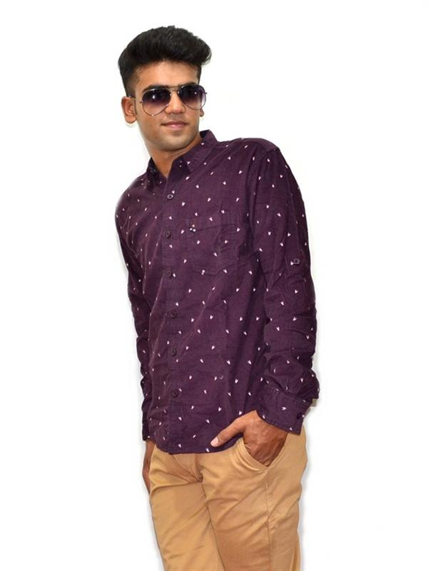 Spykar printed casual shirt