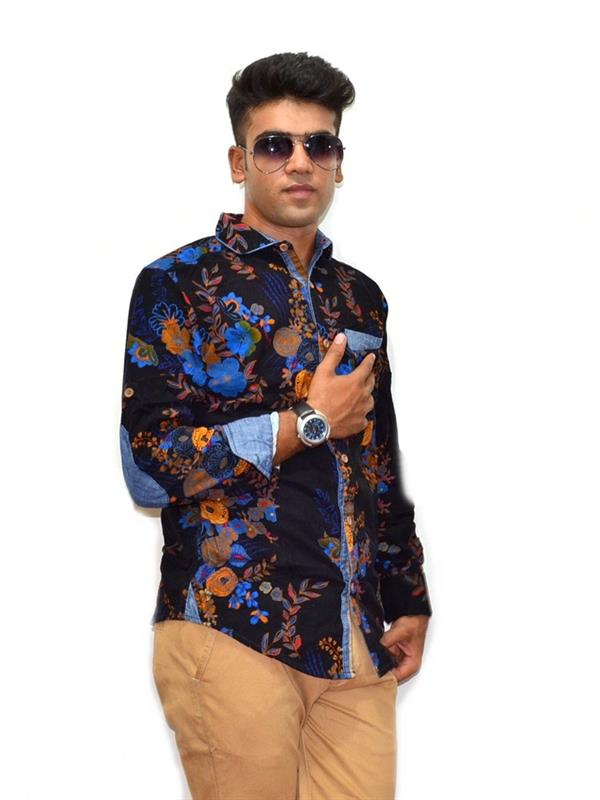 Copper stone printed casual shirt