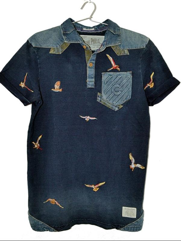 Copper stone embroidered t-shirt