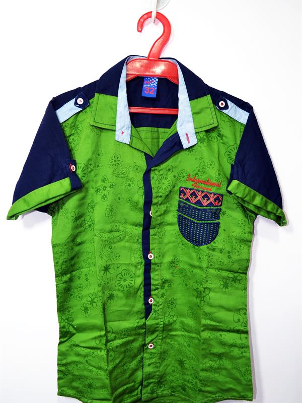 Boy's casual printed shirt