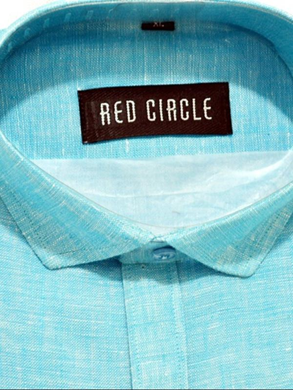 Red Circle pure linen party wear shirt